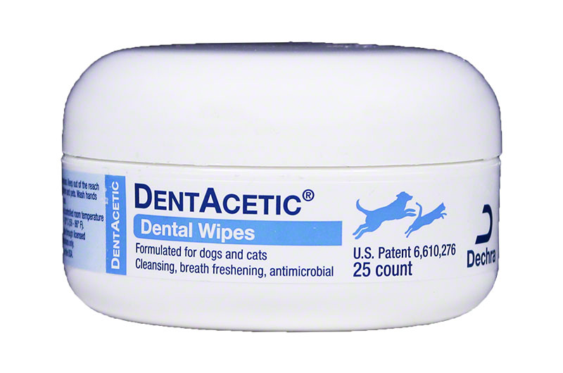Dechra Dentacetic Dental Wipes 25 count
