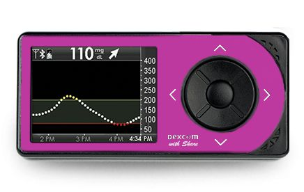 Dexcom G4 Platinum Adult CGM Receiver With Share Pink