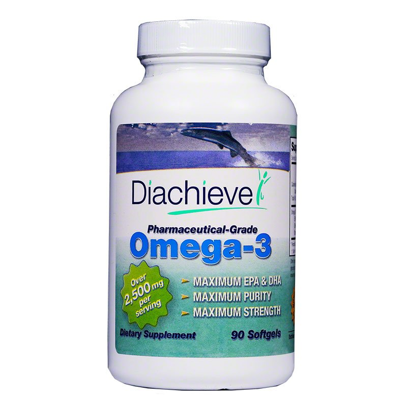 Diachieve Omega-3 Dietary Supplement 90/btl 3-pack