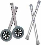 Drive Medical Extended Height Walker Wheels and Legs - 10108WC thumbnail