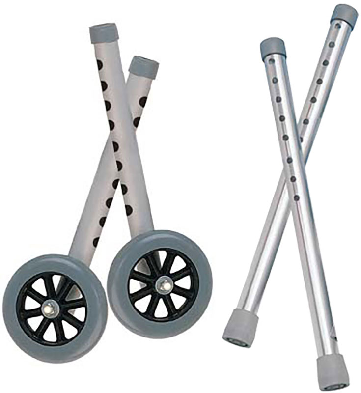 Drive Medical Extended Height Walker Wheels and Legs - 10108WC