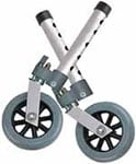 Drive Medical Swivel Walker Wheels w/Lock and Glides - 10115