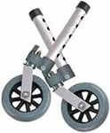 Drive Medical Swivel Walker Wheels w/Lock and Glides - 10115 thumbnail