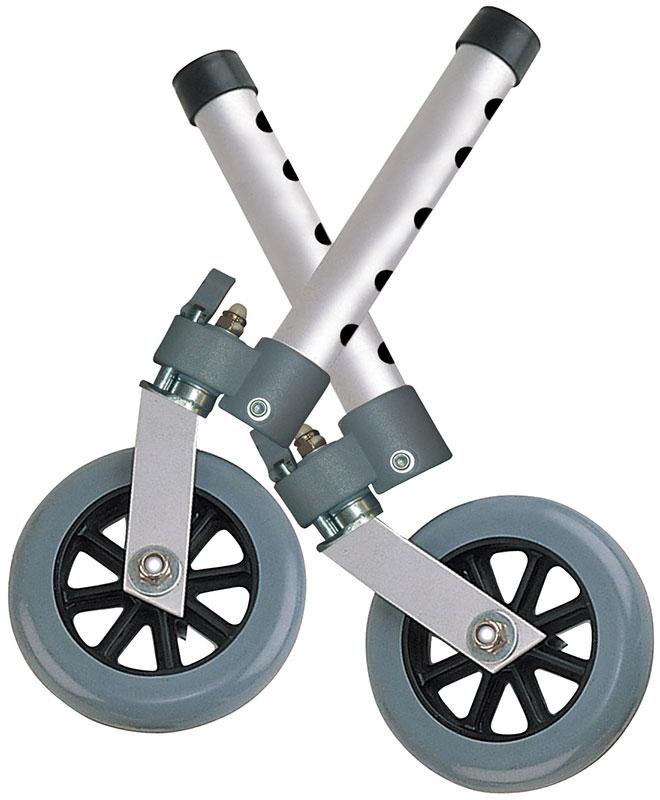 Drive Medical Swivel Walker Wheels w/Lock and Glides - 10115