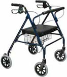 Drive Medical Bariatric Rollator w/Padded Seat and Loop Locks Blue thumbnail