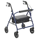 "Drive Medical Bariatric Rollator with 8"" Wheels Blue thumbnail"