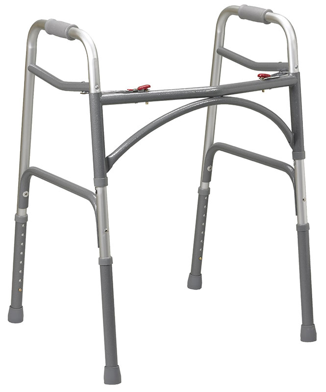 Drive Medical Deep Frame Two Button Bariatric Folding Walker