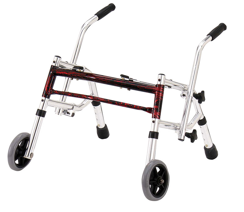 Drive Medical Flame Red Pediatric Glider Walker