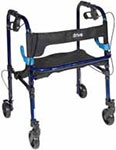 Drive Medical Clever Lite Rollator Walker w/Casters Flame Blue - 10230 thumbnail