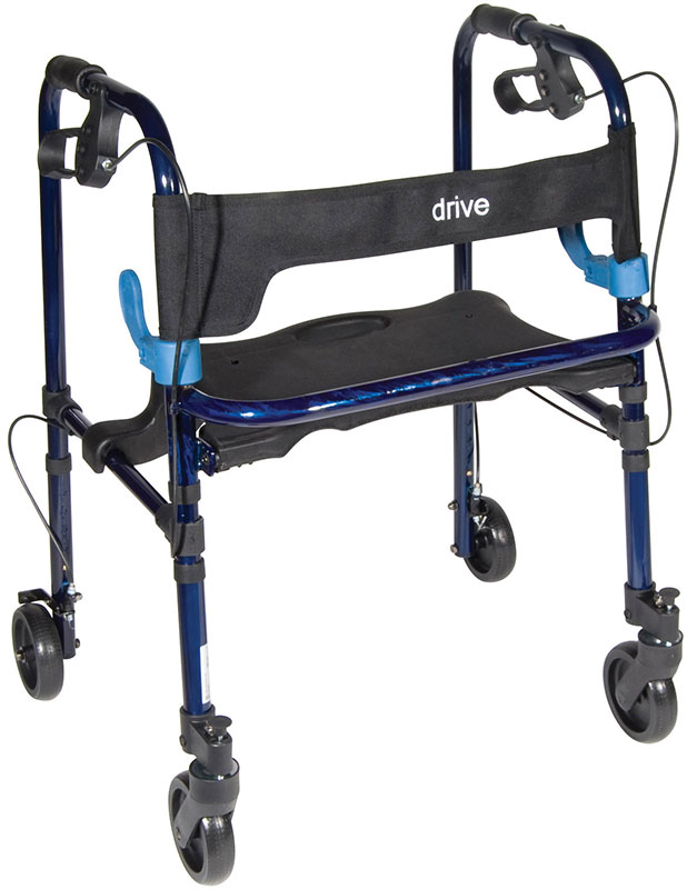 Drive Medical Clever Lite Rollator Walker Flame Blue - 10230J