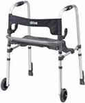 Drive Medical Clever Lite LS Rollator Walker w/Push Down Brakes Gray