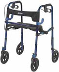 Drive Medical Clever Lite Rollator Walker w/Casters Flame Blue - 10243 thumbnail
