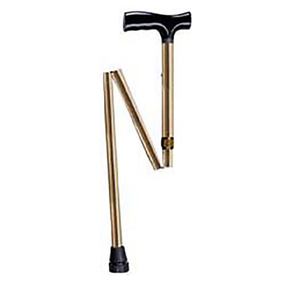 Drive Medical Lightweight Adjustable Folding T Handle Cane Bronze
