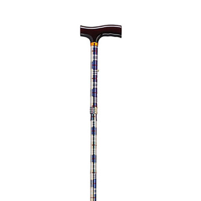 Drive Medical Lightweight Adjustable T Handle Cane Computer Plaid