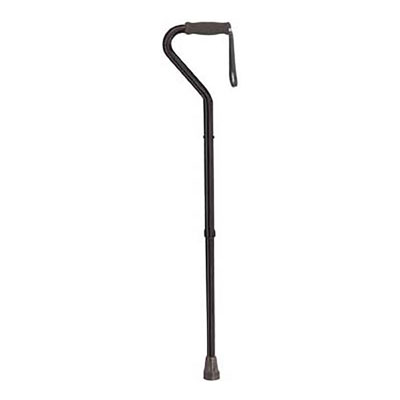 Drive Medical Bariatric Offset Handle Cane Black - Tall Adult