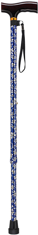 Drive Medical Designer Color T Handle Canes Blue Daisy