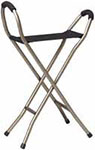 Drive Medical Lightweight Cane w/Sling Seat Bronze