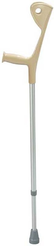 Drive Medical Euro Style Light Weight Forearm Walking Crutch Silver