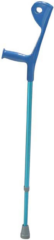Drive Medical Euro Style Light Weight Forearm Walking Crutch Blue