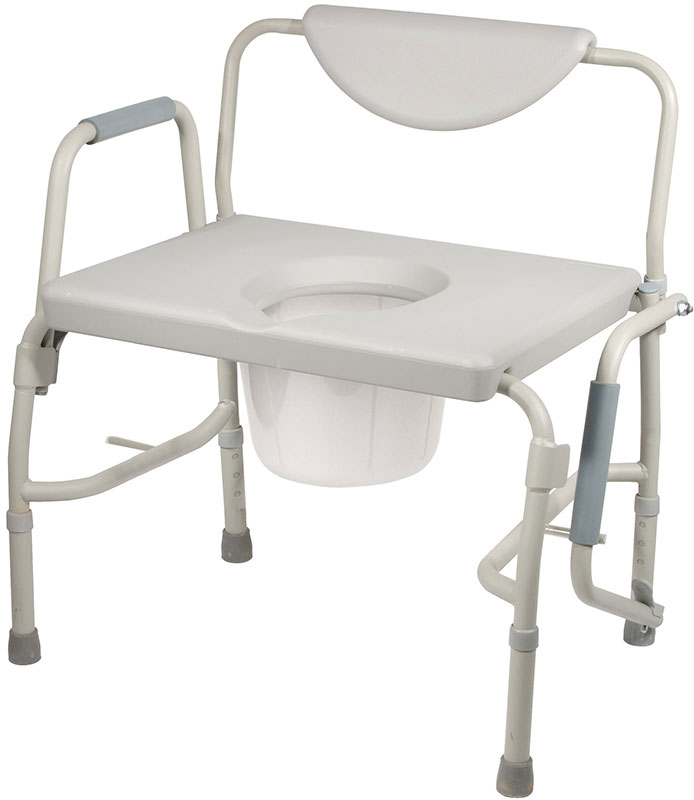 Drive Medical Oversized Heavy Duty Bariatric Drop Arm Bedside Commode