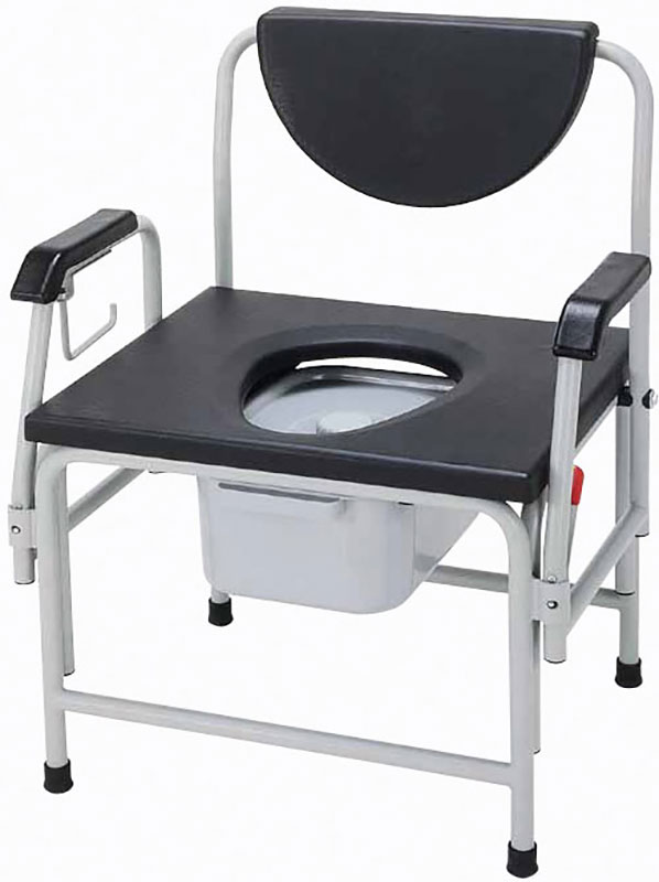 Drive Medical Super Heavy Duty Bariatric Drop Arm Bedside Commode Seat