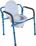 Drive Medical Folding Aluminum Bedside Commode