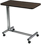 Drive Medical Non Tilt Top Chrome Overbed Table