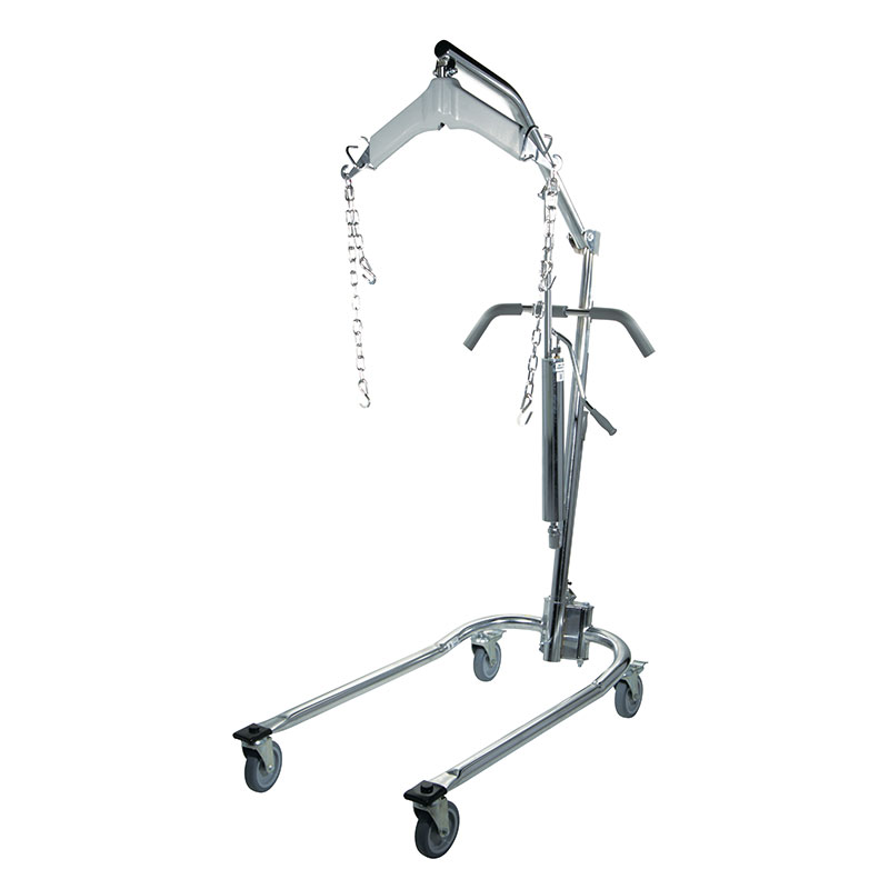 Drive Medical Chrome Hydraulic Patient Lift with Six Point Cradle