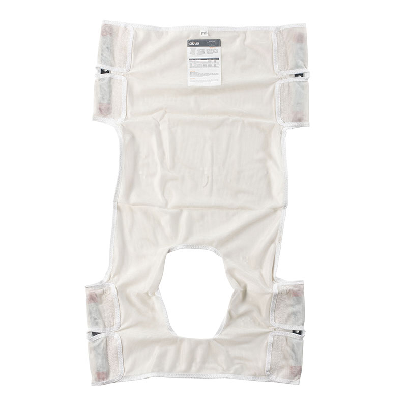 Drive Medical Mesh Patient Lift Sling with Commode Cutout
