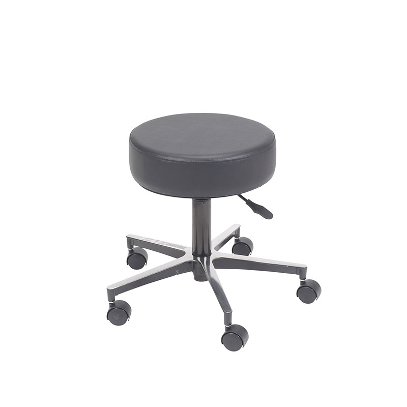 Drive Medical Padded Seat Pneumatic Adjustable Height Stool w/Base