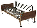 Drive Medical Multi Height Manual Hospital Bed with Full Rails thumbnail
