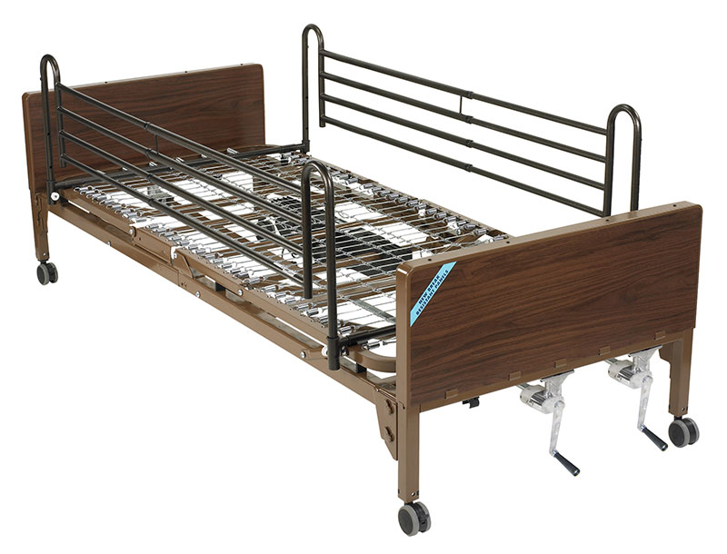 Drive Medical Multi Height Manual Hospital Bed with Full Rails