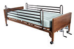 Drive Medical Multi Height Hospital Bed w/Rails & Mattress 15003BVPKGT