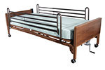 Drive Medical Semi Electric Bed with Full Rails and Foam Mattress thumbnail