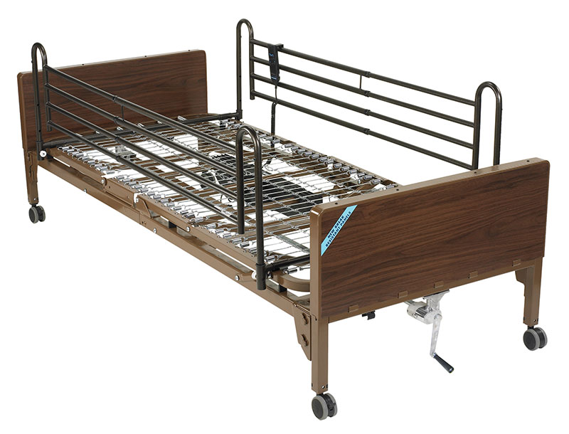 Drive Medical Delta Ultra Light Semi Electric Bed with Full Rails