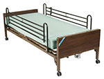 Drive Medical Delta Ultra Light Semi Electric Bed w/Rails & Mattress