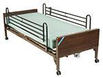 Drive Medical Delta Electric Bed w/Full Rails & Mattress 15030BVPKGT thumbnail