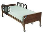 Drive Medical Delta Electric Bed w/Half Rails & Mattress 15033BVPKG1T thumbnail