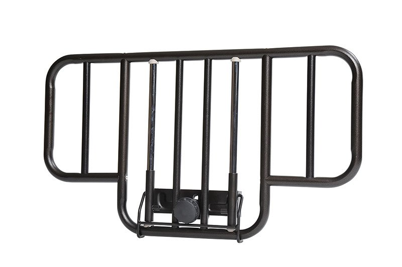 Drive Medical No Gap Half Length Side Bed Rails Brown