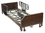 Drive Medical Delta Ultra Light Full Electric Low Bed w/Half Rails thumbnail