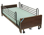 Drive Medical Delta Ultra Electric Low Bed w/Full Rails And Mattress thumbnail