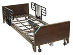 Drive Medical Delta Ultra Electric Low Bed w/Half Rails And Mattress thumbnail
