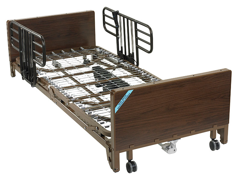 Drive Medical Delta Ultra Electric Low Bed w/Half Rails And Mattress