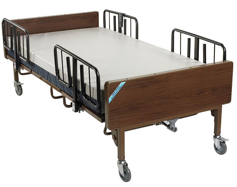 Drive Medical Electric Bariatric Hospital Bed w/Mattress & T Rails