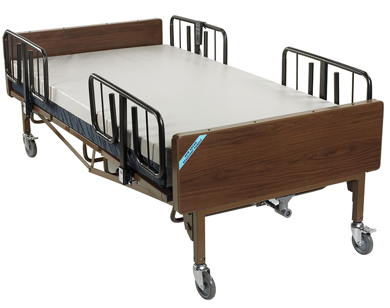 Drive Medical Electric Heavy Duty Bariatric Hospital Bed w/T-Rails