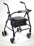 Drive Medical Mimi Lite Push Brake Rollator Blue thumbnail