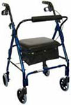 Drive Medical Mimi Lite Deluxe Aluminum Rollator Flame Blue