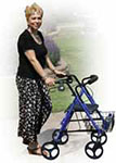 Drive Medical D-Lite Rollator Walker w/Wheels & Loop Brakes Blue