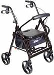 Drive Medical Duet Transport Wheelchair Chair Rollator Walker Black thumbnail