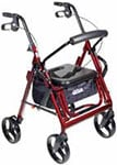 Drive Medical Duet Transport Wheelchair Chair Rollator Walker Burgundy thumbnail